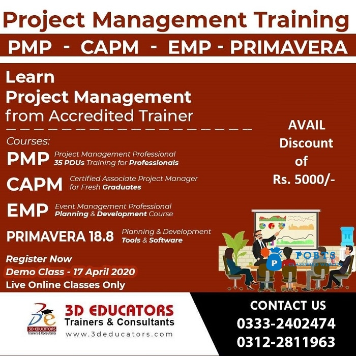 Project Management Training from Accredited Trainer - 3D Educators