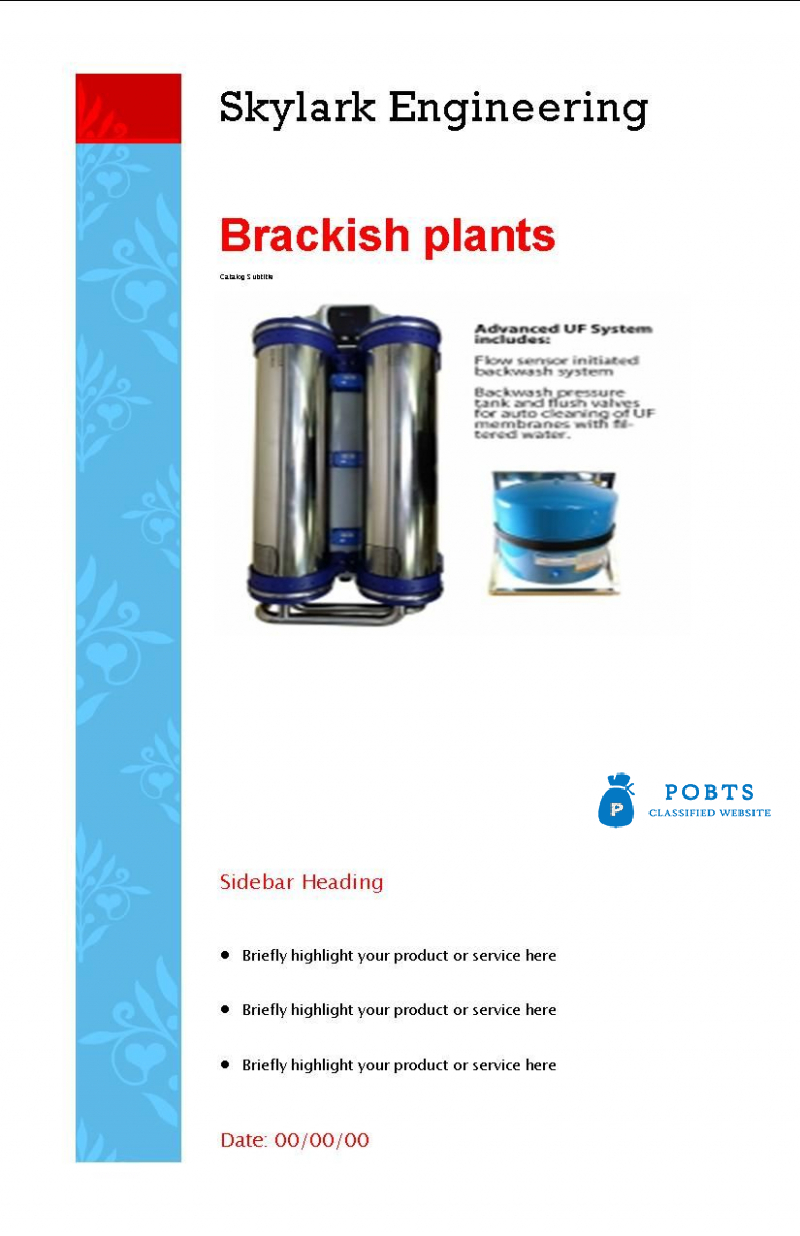 All types water and waster water treatments plants