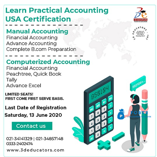 Manual And Computerize Accounting Course With Live Online