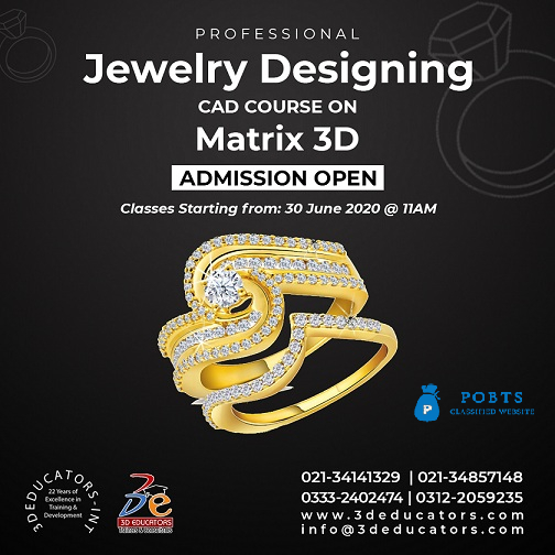 Professional Jewelry Designing CAD Course Training