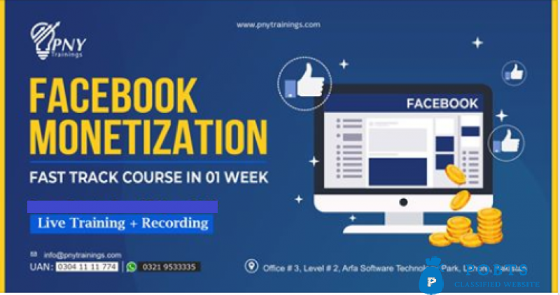 Facebook Monetization - Fast Track Course - in 01 Week