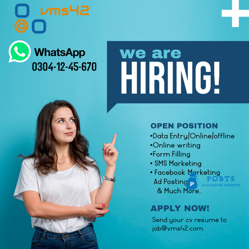 Data Entry & Internet Jobs Are available!