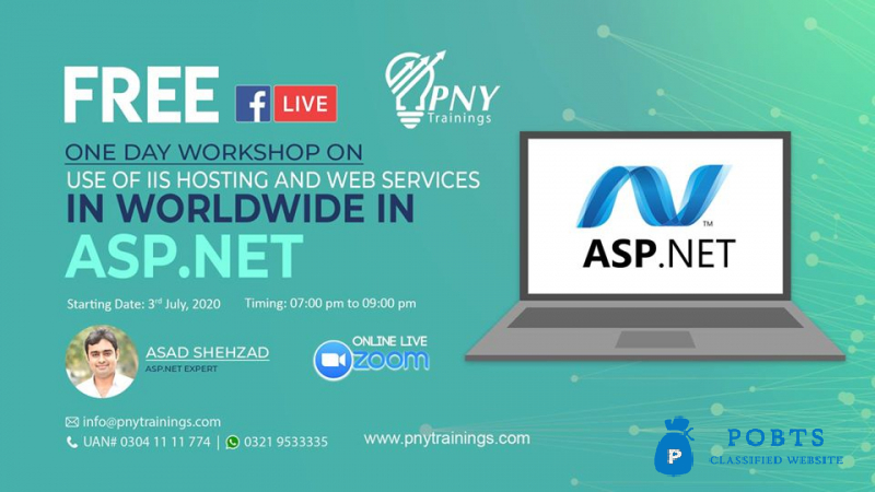 Free One Day Workshop on Use of iis Hosting and web services in WorldWide in Asp.net!