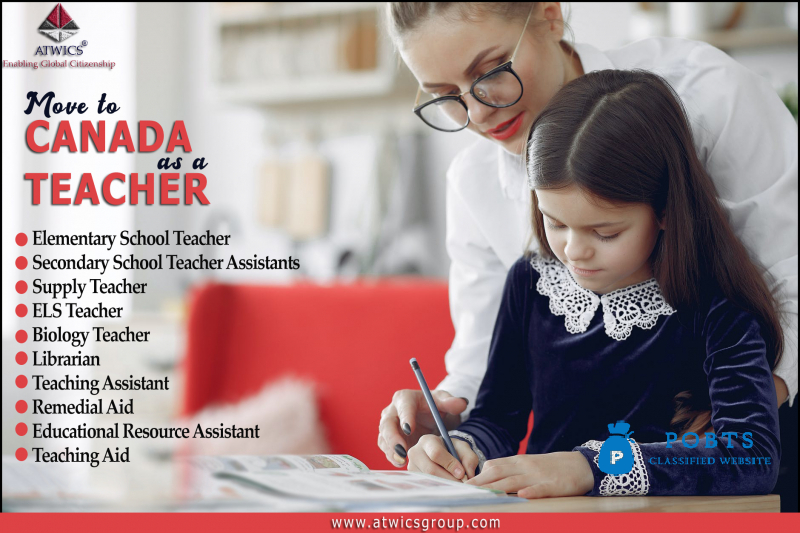 Are you a trained teacher? Do you want to move to Canada to teach?