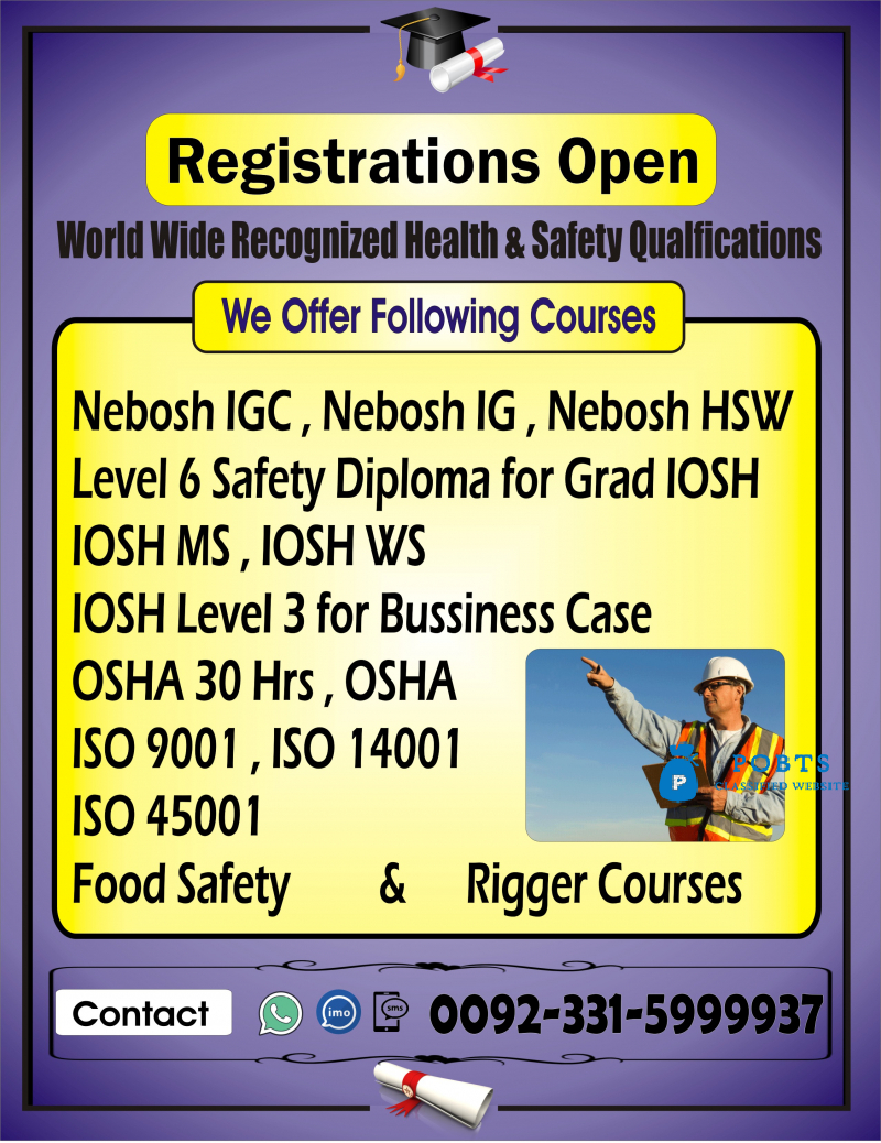online iosh course in islamabad