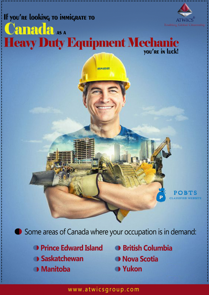 Immigrate to Canada as a Heavy Duty Equipment Mechanic