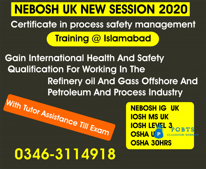 Nebosh course in Sahiwal
