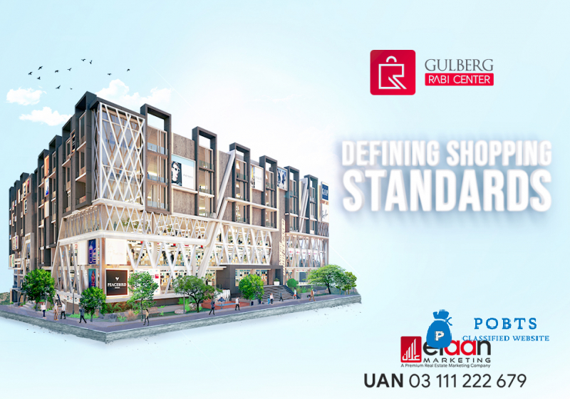 *GULBERG RABI CENTER* The Perfect Blend of Commercial and Residential Property