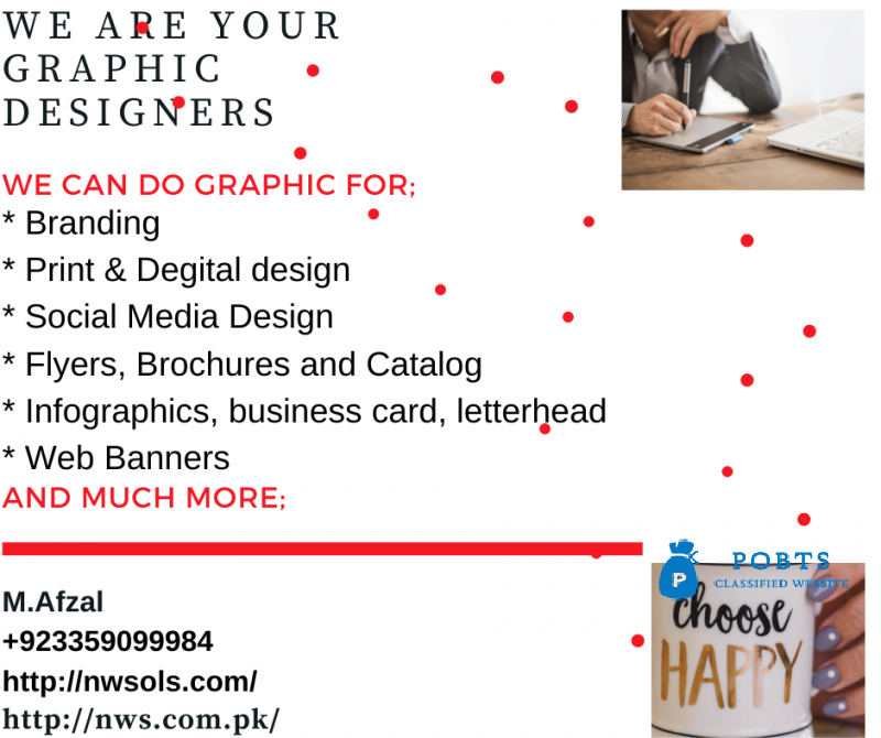 We are your Graphic Designers