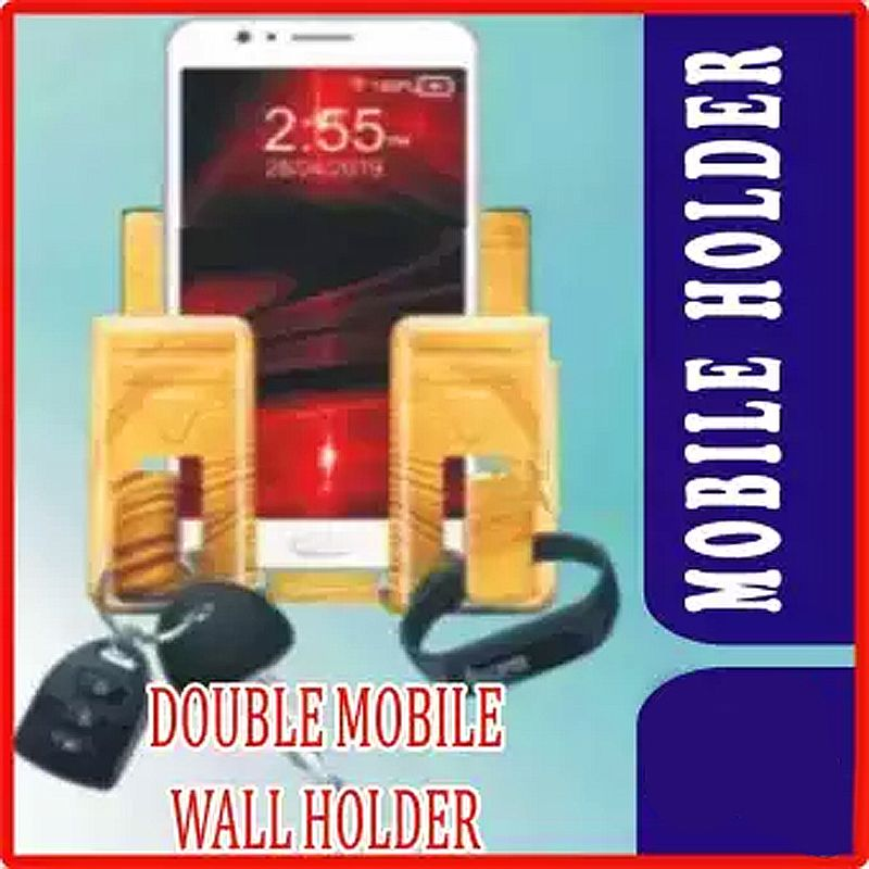 Pack of 4 Wall mounted mobile charging holder