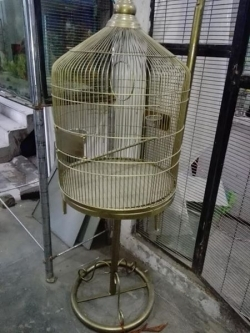 Iron cage with stand
