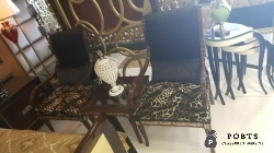 Solid sheesham wood chester room chairs with coffee table