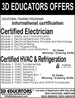 Vocational Training Certified Electrician And HVAC & Refrigeration