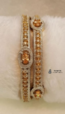 American diamond studded indian jewellery each pair in rs 1100