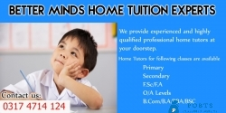 QUALIFIED & PROFESSIONAL TUTORS FOR HOME TUITION ARE AVAILABLE IN KARACHI