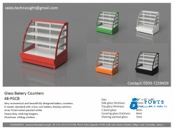 Painted Glass Bakery Counter, AlVO Bakery Counter, ALVO Sweet Display Counter in Pakistan made by Technosight