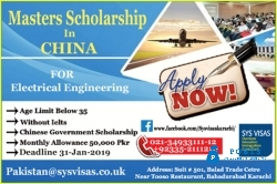 Masters Scholarship In China