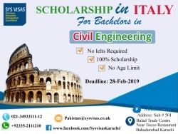 Scholarship In Italy For Bachelors In Civil Engineering