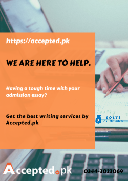 Affordable application essay writing services
