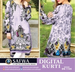 Ladies Brand Safwa Textile Un-Stiched Kurti 750Rs Only.