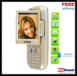 VOX 4 SIM TOUCH & TYPE DUAL CAMERA MOBILE