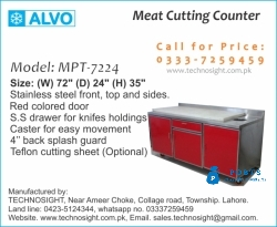 Meat Prep Table. Meat Cutting Table for Meat Shop in Pakistan, ALVO Meat Display Chiller in Pakistan