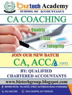 CA in Pakistan  by the institute of chartered accountant of Pakistan