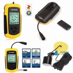 100M Portable Sonar Sensor Fish LCD Finder Fishfinder Capturing Transducer Alarm