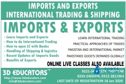 Trade Finance - Import Export by 3D EDUCATORS