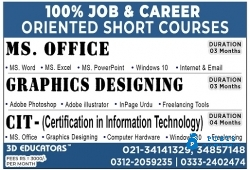 100% Job and Career Oriented Short Courses
