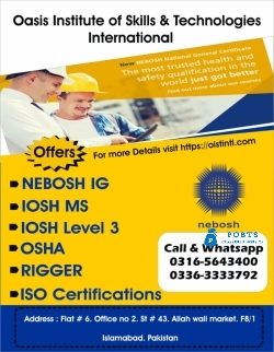 IOSH Level 3 for Business Course in Best Institute in Pakistan