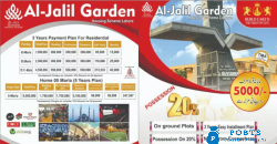 Plots r available for sale in al-jalil garden