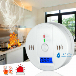 CO Carbon Monoxide Detector Wireless Security Sensor Voice Alert Loud Alarm Home
